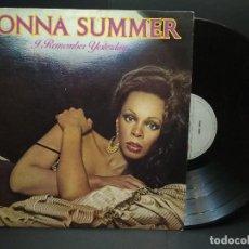 Discos de vinilo: DONNA SUMMER (LP) I REMEMBER YESTERDAY AÑO 1977 PEPETO. Lote 248806450
