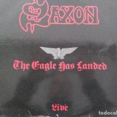 Disques de vinyle: SAXON. THE EAGLE HAS LANDED. LIVE. SPAIN 1982.. Lote 248974930