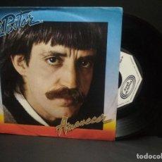 Discos de vinilo: LUIS PASTOR-AMANECER + PUERTO DE MAR PARA VALLECAS SINGLE VINILO 1981 PROMOCIONAL SPAIN PEPETO. Lote 248977375