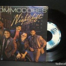 Discos de vinilo: COMMODORES - NIGHTSHIFT / I KEEP RUNNING (SINGLE PROMO ESPAÑOL, MOTOWN 1985) PEPETO. Lote 248978420