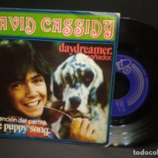 Discos de vinilo: DAVID CASSIDY-DAYDREAMER + THE PUPPY SONG SINGLE BELL EN 1973 PEPETO. Lote 248979560
