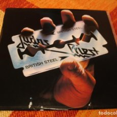 Discos de vinilo: JUDAS PRIEST LP BRITISH STEEL CBS ORIGINAL ESPAÑA 1980 LAMINADA. Lote 249002065