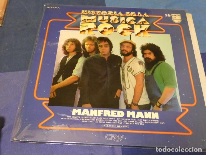 EXPRO LP HISTORIA DE LA MUSICA ROCK 16 ORBIS MANFRED MANN BUEN ESTADO GENERAL (Música - Discos - LP Vinilo - Pop - Rock - Internacional de los 70)