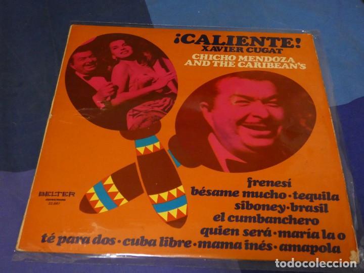 EXPRO LP XAVIER CUGAT CHICHO MENDOZA CALIENTE ESPAÑA 74 ESTADO DECENT DE VINILO (Música - Discos - LP Vinilo - Pop - Rock - Internacional de los 70)