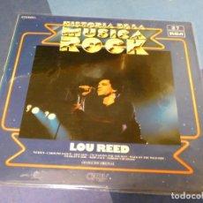 Discos de vinilo: EXPRO LP HISTORIA DE LA MUSICA ROCK ORBIS 27 LOU REED BUEN ESTADO DE VINILO. Lote 249015760