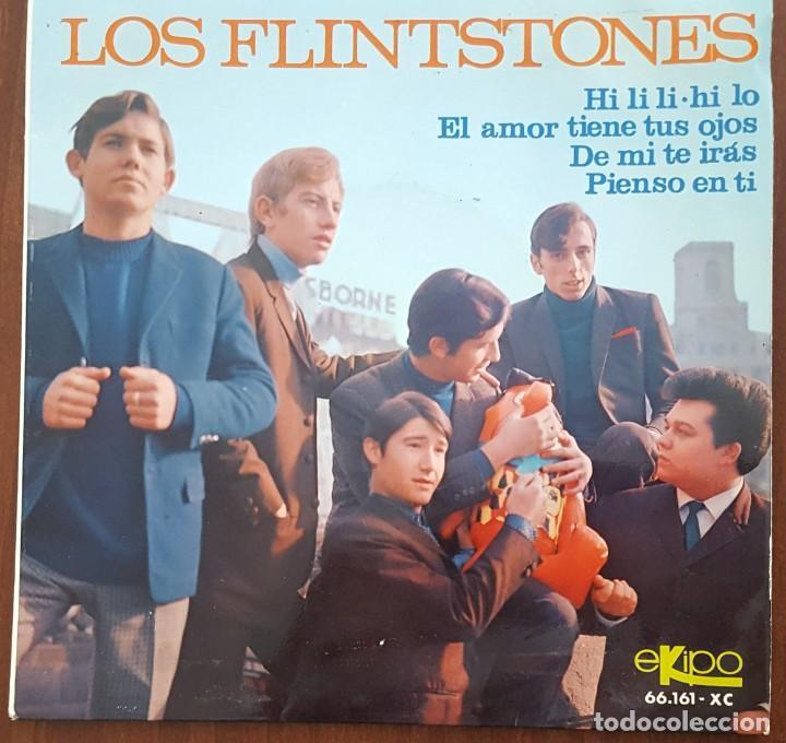 EP / LOS FLINTSTONES / HI LI LI-HI LO - EL AMOR TIENE TUS OJOS - DE MI TE IRAS - PIENSO EN TI, 1966 (Música - Discos de Vinilo - EPs - Solistas Españoles de los 50 y 60)