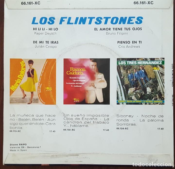 Discos de vinilo: EP / LOS FLINTSTONES / HI LI LI-HI LO - EL AMOR TIENE TUS OJOS - DE MI TE IRAS - PIENSO EN TI, 1966 - Foto 2 - 249018210