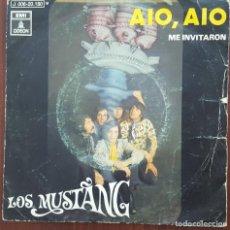 Discos de vinilo: SINGLE / LOS MUSTANG - AIO, AIO, 1970. Lote 249033135