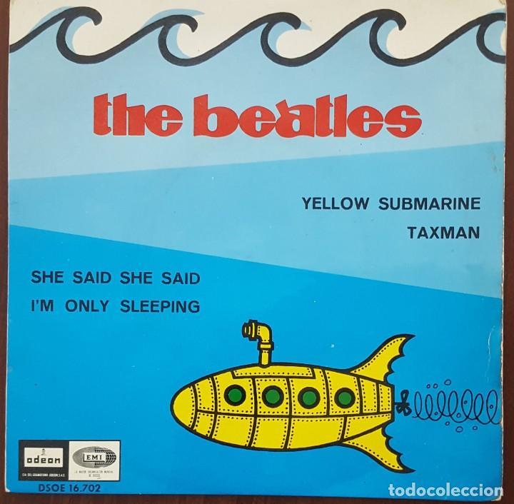 EP / THE BEATLES / YELLOW SUBMARINE - TAXMAN - SHE SAID SHE SAID - I'M ONLY SLEEPING, 1966 (Música - Discos de Vinilo - EPs - Pop - Rock Internacional de los 50 y 60)