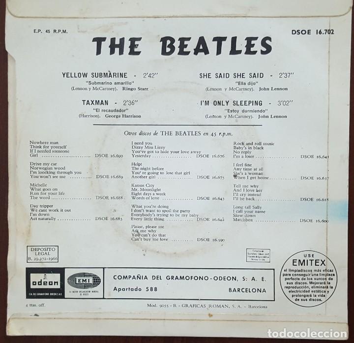 Discos de vinilo: EP / THE BEATLES / YELLOW SUBMARINE - TAXMAN - SHE SAID SHE SAID - IM ONLY SLEEPING, 1966 - Foto 2 - 249034720