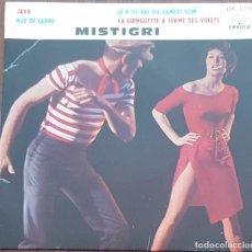 Discos de vinilo: EP / MISTIGRI / JAVA - RUE DE LAPPE - LE P'TIT BAL DU SAMEDI SOIR - LA GUINGUETTE A FERME SES VOLETS. Lote 249036130
