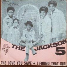 Discos de vinilo: SINGLE / THE JACKSON 5 - THE LOVE YOU SAVE, 1970. Lote 249041640