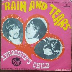 Disques de vinyle: SINGLE / APHRODITES CHILD - RAIN AND TEARS, 1968. Lote 249055685