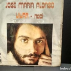 Discos de vinilo: JOSE MARI ALONSO VIVAR + NACI SINGLE NOVOLA 1974 PEPETO. Lote 249072155