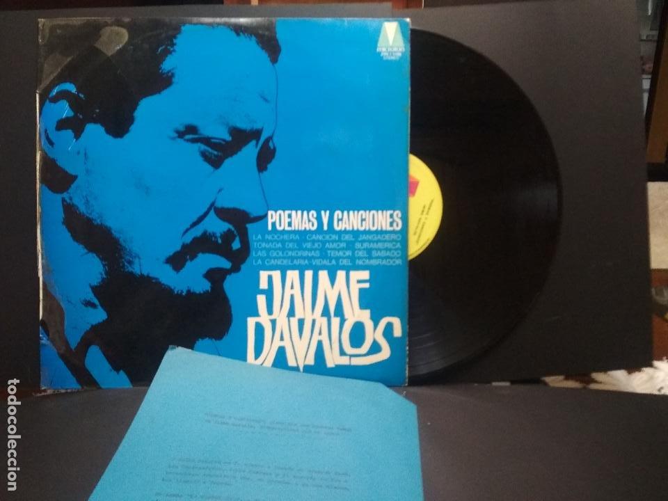 JAIME DAVALOS POEMAS Y CANCIONES LP MICROTON 1974 PEPETO (Música - Discos - LP Vinilo - Solistas Españoles de los 70 a la actualidad)