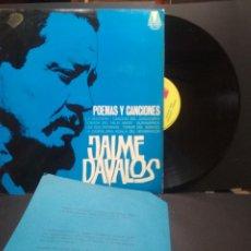 Discos de vinilo: JAIME DAVALOS POEMAS Y CANCIONES LP MICROTON 1974 PEPETO. Lote 249076720