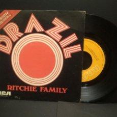 Discos de vinilo: RITCHIE FAMILY - BRAZIL - SINGLE RCA DE 1975 SPAIN PEPETO. Lote 249077385