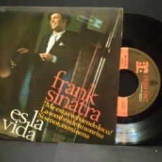 Discos de vinilo: FRANK SINATRA - ES LA VIDA, ME ESTÁS VOLVIENDO LOCO,LA SOMBRA DE TU SONRISA,- EP 1966 PEPETO. Lote 249078415