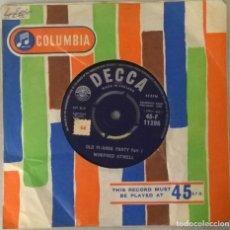 Discos de vinilo: WINIFRED ATWELL. OLD PI-ANNA PARTY (PART 1 & 2). DECCA. UK 1960 SINGLE. Lote 249085950