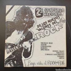 Discos de vinilo: LP 2° CONCURSO NACIONAL DE LOS NUEVOS VALORES DEL ROCK (MÉXICO - D. ROCK - 1980) ULTRA RARO PRIVATE!. Lote 249196835