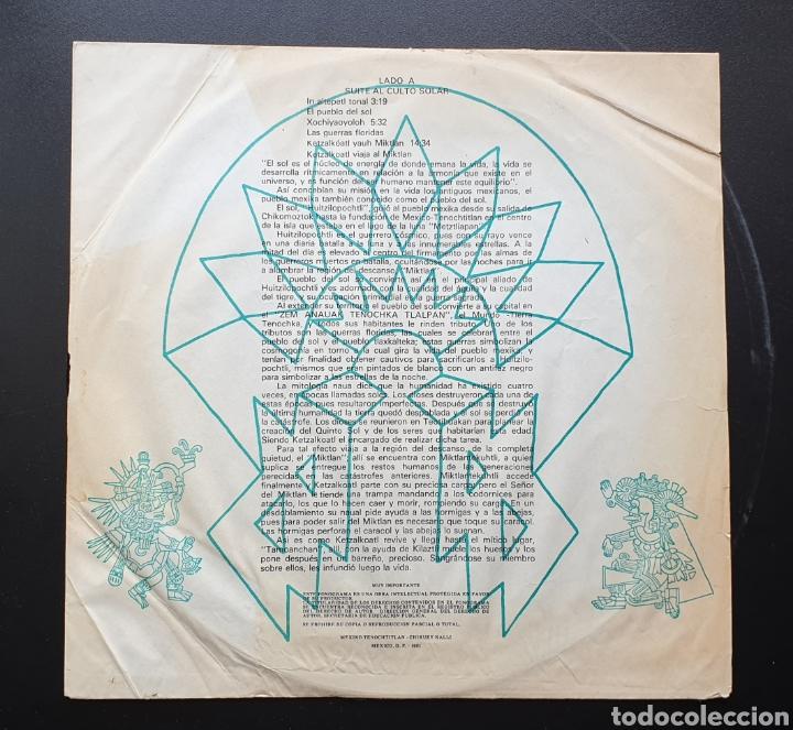 Discos de vinilo: LP LUIS PEREZ & MEXICO MAGICO COSMICO - En el ombligo de la luna (México - ISSSTE/Privado - 1981) - Foto 7 - 249199450
