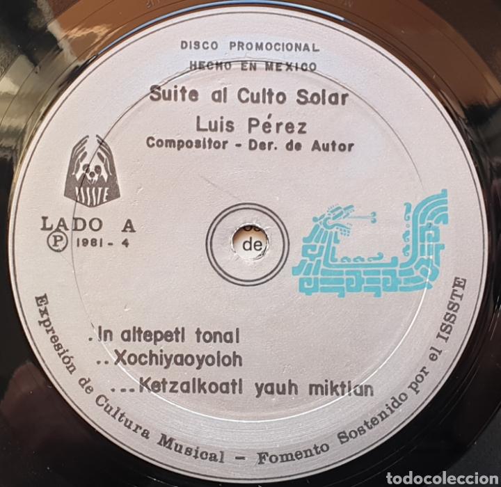 Discos de vinilo: LP LUIS PEREZ & MEXICO MAGICO COSMICO - En el ombligo de la luna (México - ISSSTE/Privado - 1981) - Foto 9 - 249199450