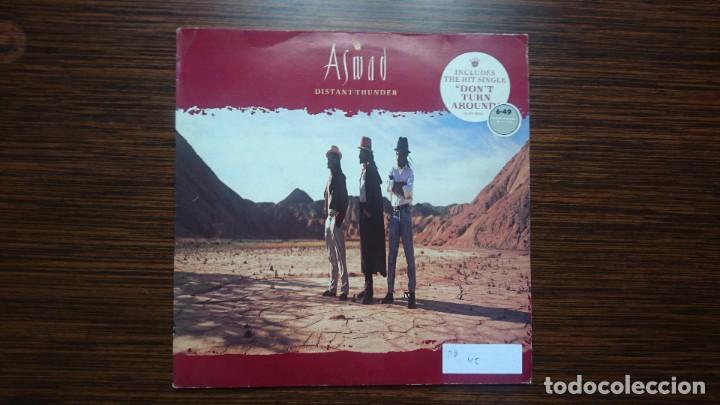 ASWAD - DISTANT THUNDER LP 1988 ISLAND RECORDS (Música - Discos - LP Vinilo - Reggae - Ska)