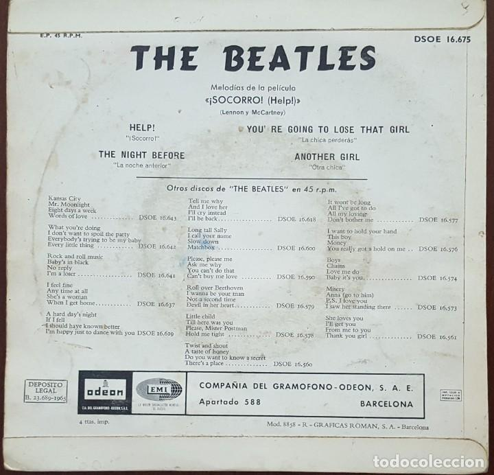 Discos de vinilo: EP / THE BEATLES / HELP - THE NIGHT BEFORE - YOURE GOING TO LOSE THAT GIRL - ANOTHER GIRL, 1965 - Foto 2 - 249252890