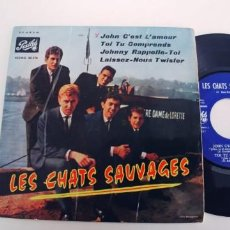 Discos de vinilo: LES CHATS SAUVAGES-EP JOHN C'EST L'AMOUR +3-ESPAÑOL 1963. Lote 249330220