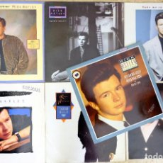 Discos de vinilo: RICK ASTLEY-WHENEVER YOU NEED SOMEBODY+NEVER GONNA GIVE YOU UP+TOGETHER FOREVER+SHE WANTS TO DANCE+2. Lote 249331555