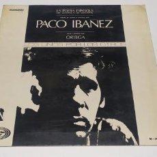 Discos de vinilo: PACO IBAÑEZ LA POESIA EPAÑOLA VISTA Y PINTADA POR ORTEGA. Lote 249339180
