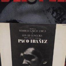 Discos de vinilo: PACO IBAÑEZ CANTA FEDERICO GARCIA LORCA Y LUIS DE GONGORA CONTRAPORTADA DALI. Lote 249339505