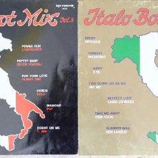 Discos de vinilo: ITALO BOOT MIX. VOL 8 Y VOL. 10. SCOTCH - ATTACK - SWAN - LASERDANCE - SILVER POZZOLI - ALBERT ONE-. Lote 249352855