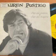 Disques de vinyle: LAUREN POSTIGO (ALGO QUE ACARICIA Y ALGO QUE DESGARRA) SINGLE PROMO 1990 (EPI22). Lote 249359550