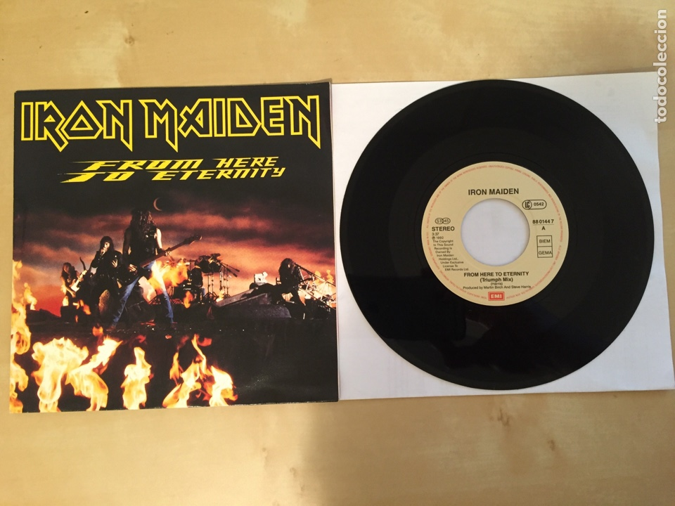 "IRON MAIDEN - FROM HERE TO ETERNITY - SINGLE RADIO 7"" - 1992 - UK - NUEVO A ESTRENAR (Música - Discos - Singles Vinilo - Heavy - Metal)"