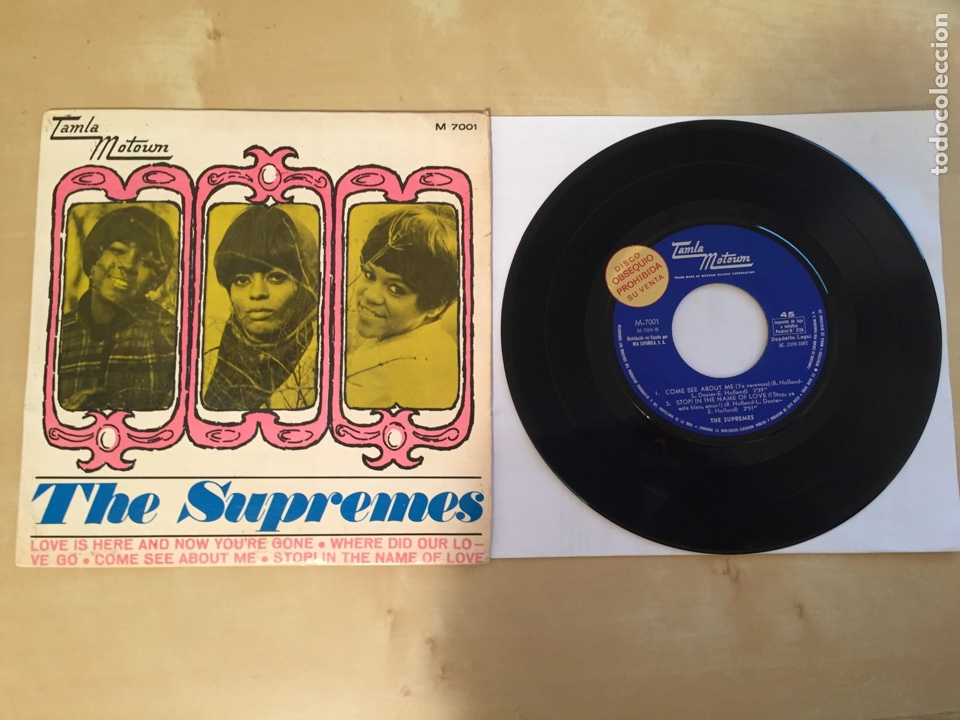 """THE SUPREMES - LOVE IS HERE AND NOW YOU'RE GONE - RADIO SINGLE PROMO 7"""" - 1967 ESPAÑA (Música - Discos - Singles Vinilo - Funk, Soul y Black Music)"""
