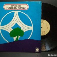 Discos de vinilo: EMILIO CAO - FONTE DO ARAÑO.LP GATEFOLD EDITADO POR ZAFIRO. AÑO 1.977 PEPETO. Lote 249397705