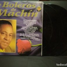 Discos de vinilo: LOS BOLEROS DE A . MACHIN, TRIPLE LP. DIVUCSA 1993 PEPETO. Lote 249399955