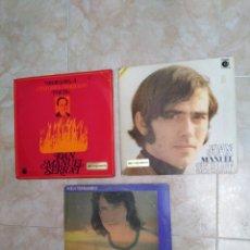 Discos de vinilo: LOTE DE 3 LP JOAN MANUEL SERRAT. Lote 249409915