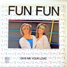 Discos de vinilo: FUN FUN. GIME ME YOUR LOVE. MAXI SINGLE. ENERGY. Lote 249427910