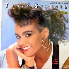 Discos de vinilo: TRACY SPENCER. LOVE IS A GAME. MAXI SINGLE. Lote 249441065