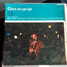 Discos de vinilo: THE NEW STAN GETZ QUARTET FEATURING ASTRUD GILBERTO - GETZ AU GO GO (VERVE, MONO, UK, 1964). Lote 249441395