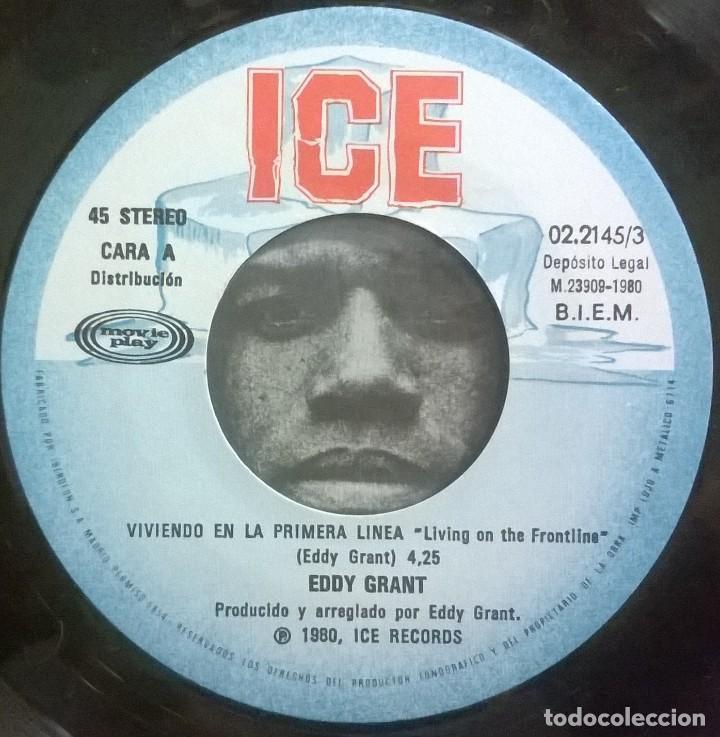 Discos de vinilo: Eddy Grant, Viviendo En La Primera Linea, Living On The Frontline, Movieplay, ICE 02.2145/3, 022145/ - Foto 3 - 249449515