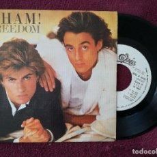 Discos de vinilo: WHAM ! - FREEDOM (EPIC) SINGLE ESPAÑA PROMOCIONAL - GEORGE MICHAEL. Lote 249450375