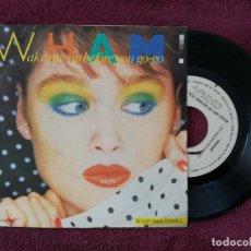 Discos de vinilo: WHAM ! - WAKE ME UP BEFORE YOU GO-GO (EPIC) SINGLE PROMOCIONAL ESPAÑA - GEORGE MICHAEL. Lote 249450545