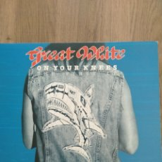 "Discos de vinilo: GREAT WHITE "" ON YOUR KENEES- THE FIRST ÁLBUM "". EDICIÓN AMERICANA. ENIGMA RECORDS.1982. RE. 1987. Lote 249473215"
