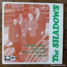 Disques de vinyle: THE SHADOWS - THE DREAMS I DREAM - DEAN'S THEME / SCOTCH ON THE SOCKS - LET IT BE ME - 1966. Lote 249524995