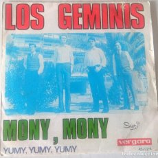 Discos de vinilo: LOS GEMINIS - MONY, MONY VERGARA - 1968. Lote 249528555