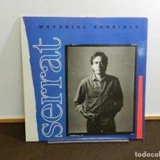Discos de vinilo: DISCO VINILO LP. JOAN MANUEL SERRAT – MATERIAL SENSIBLE. 33 RPM.. Lote 249528870
