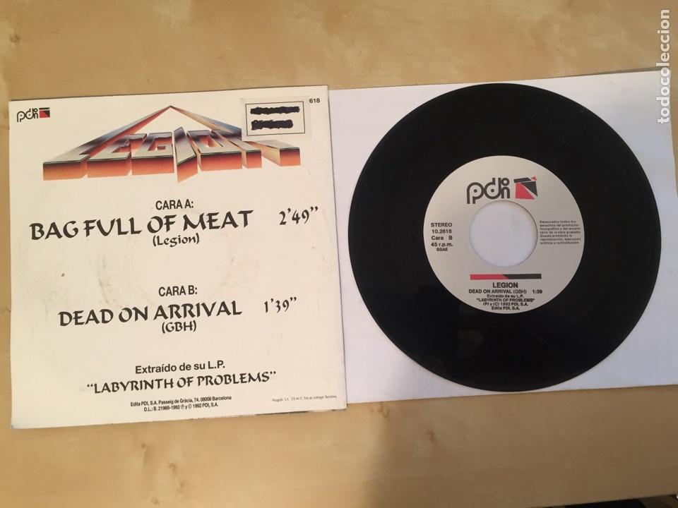 "Discos de vinilo: Legion - Bag Full Of Meat - SINGLE 7"" PROMO - 1992 - Foto 3 - 249535375"